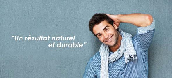 Greffe de cheveux - résultat naturel et durable.