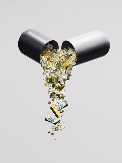 Les médicaments contre la calvitie sont assez chers.