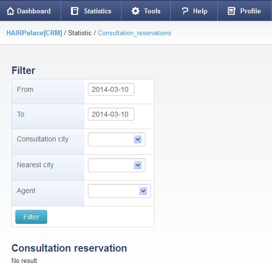 consultation reservations